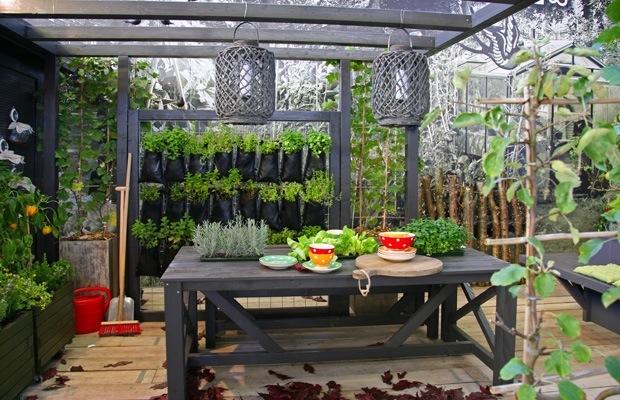 Planten op dakterras