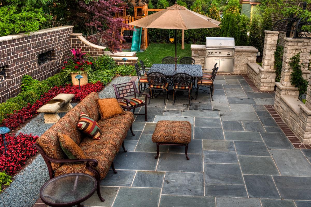 natuursteen terras reinigen