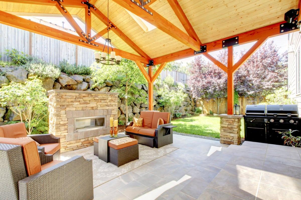 Overdekt terras materiaalsoorten constructie en dak prijzen - Overdekt terras in hout ...