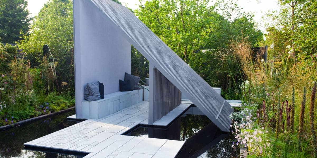 Moderne terras tegels